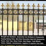 decorative wrought iron fence hardware manufacturers exporters suppliers India