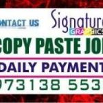 Bangalore Online Copy paste Job Lingarajpuram Daily payment  Daily 100% Income