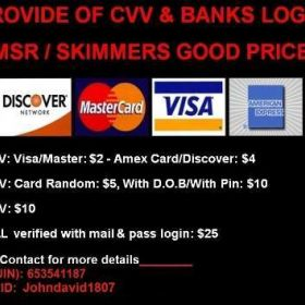 Sell cvv all type here