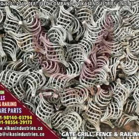 Decorative wrought iron ornamental iron components, fencing