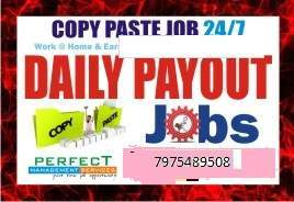 Bangalore Copy paste job   Daily Income   work at home earn daily payment