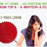 Copy-Paste Work At Home-Ad Posting Franchisee Oppurtunity in Jaipur K-Mention