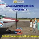 Low Budget Air Ambulance Service in Jaipur with monitoring tools