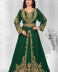 Order Now ! Green Kaftan with Discounts upto 60% at Mirraw